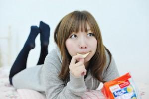 食べる人の画像