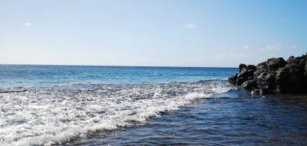 台風後の海