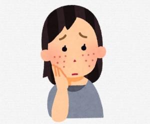 顔の肌荒れ
