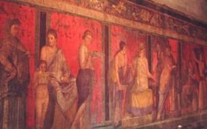 ギリシャ神話の壁画