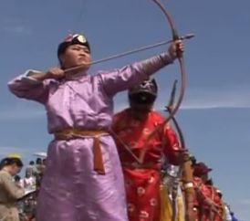 モンゴルの弓