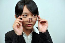 メガネの人