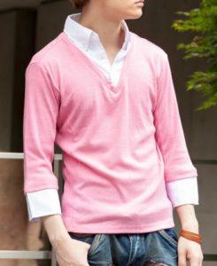 フェイクシャツでメンズの制服コーデ