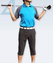 ゴルフ用のハーフパンツの着こなし