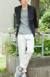背の低い男性の夏デートファッション