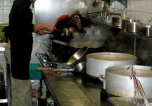 厨房と顔のかゆみ