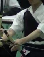 弓道の胸当て