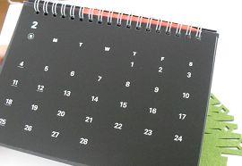 ダイソーのレインボースクラッチカレンダー