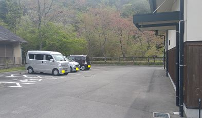 多田銀山の駐車場