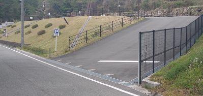 多田銀銅山の駐車場