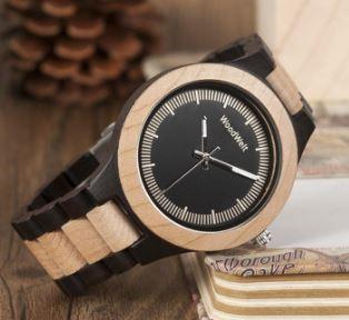 WOODWELTの木製腕時計