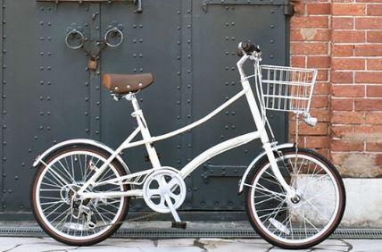 カゴ付きのオシャレな自転車