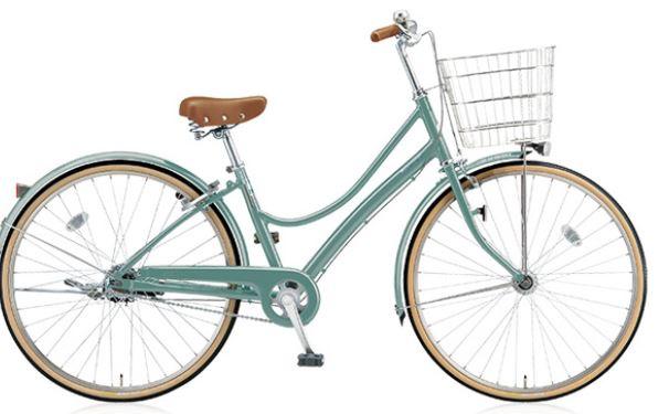 おしゃれなカゴ付き自転車