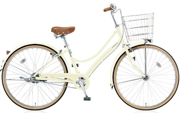 カゴ付きのおしゃれな自転車
