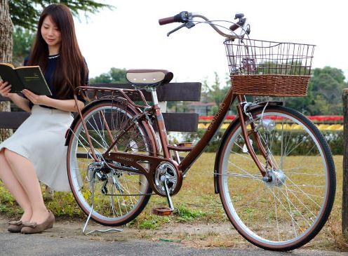 カゴ付きでおしゃれな自転車