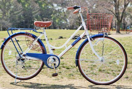 前カゴ付きのオシャレ自転車