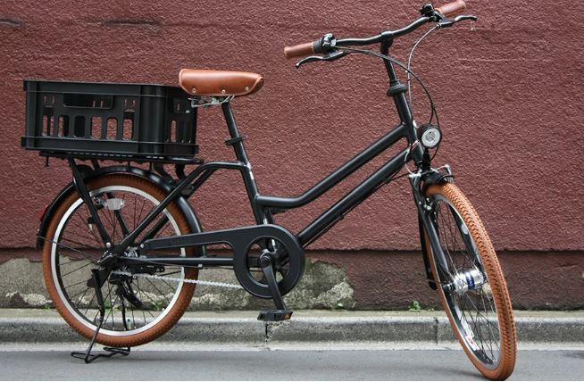 おしゃれな後ろカゴ付き自転車