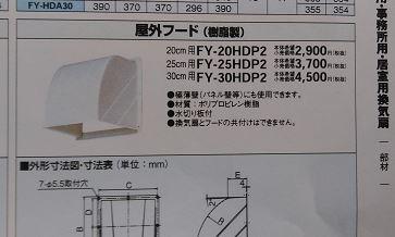 樹脂製屋外フードの交換工事費用の相場