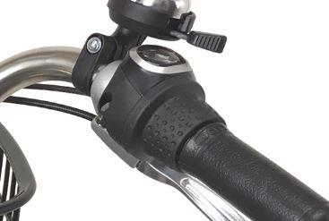 電動自転車ショプカハイブリッドの内装3段変速
