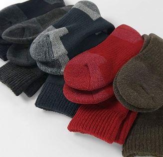 弓道用の防寒対策に吸湿発熱繊維の靴下