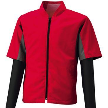 半袖空調服とスポーツ用長袖インナーの組み合わせも涼しい