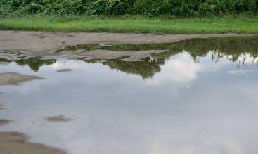 台風中のランニングは水たまりにも注意が必要